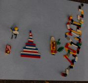 Skulpturen aus Legosteinen
