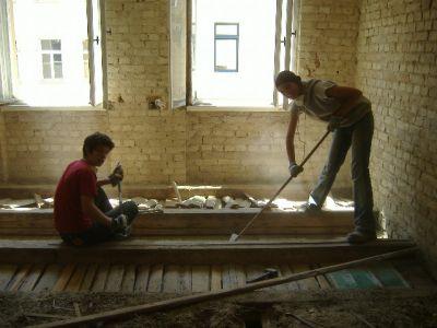 Sanierungsarbeiten im Haus