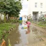 Überschwemmung im Stadtgarten, Sommerfest 2010