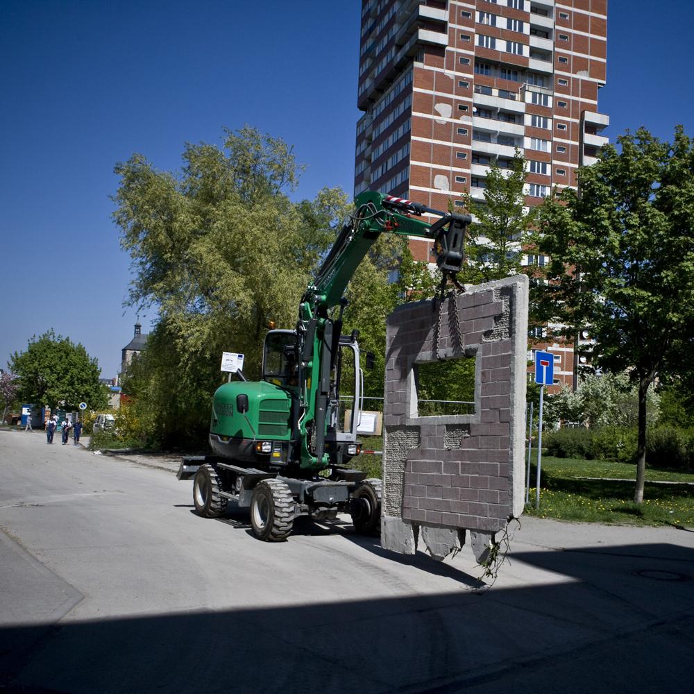 Die Stegplatte wird transportiert