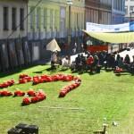 Stadt-Spiel-Vision: Blick auf den temporären Rasen