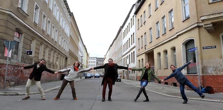 Vor der Albert-Schmidt-Straße (Foto: MZ)