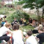 Im Stadtgarten nach dem Workcamp