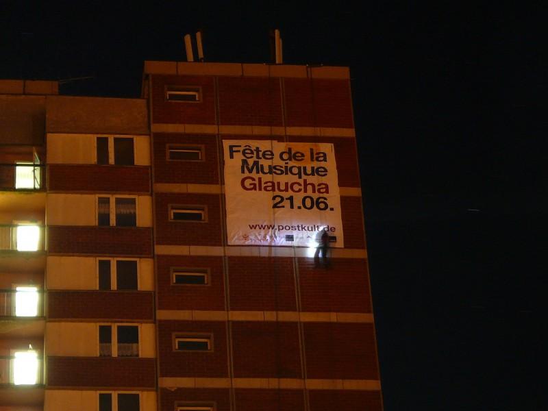 Banneraktion am Steghochhaus