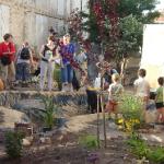 Befüllung des Teiches im Stadtgarten
